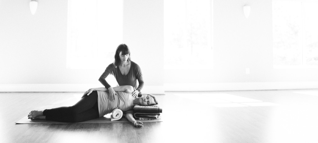 A therapeutic yoga session with Rachel Manetti of Pure Resilience Yoga in Cary, NC.